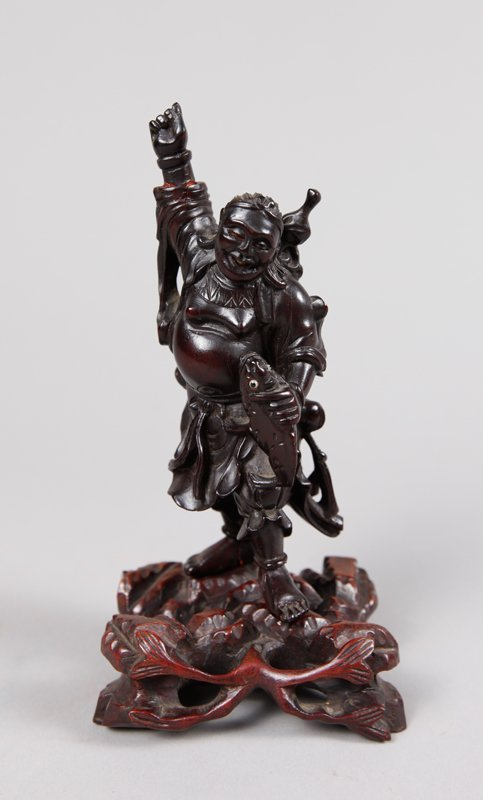 3: CHINESE CARVED HARDWOOD LUOHAN