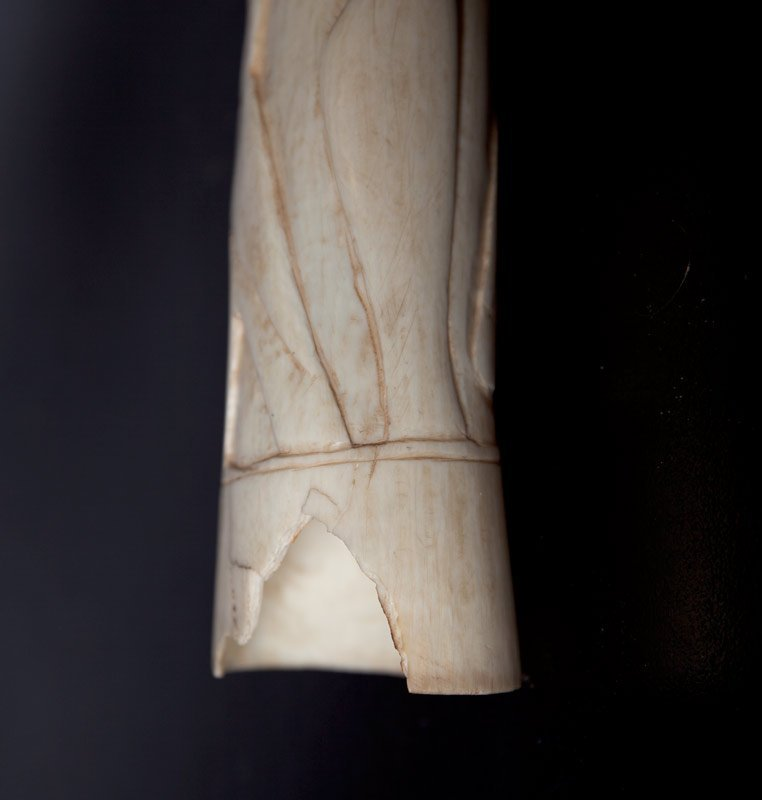 121: PAIR OF CHINESE CARVED IVORY TUSKS - 10