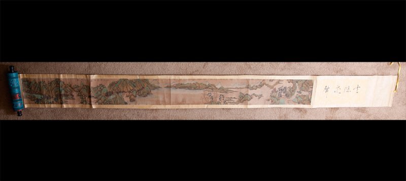 14: CHINESE SCROLL PAINTING SIGNED ZHEN RAN