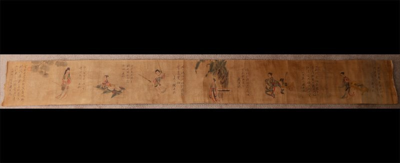 24: CHINESE SCROLL PAINTING IN CASE