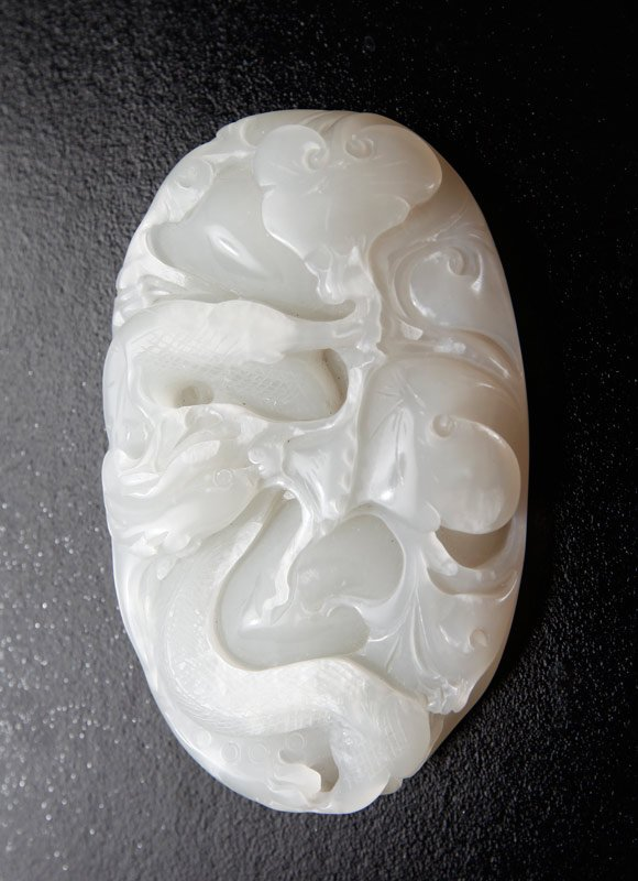 10: CHINESE AGATE PLAQUE