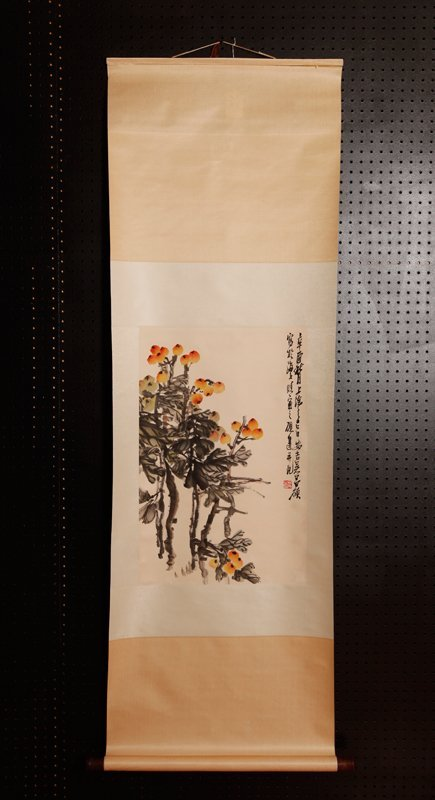 15: CHINESE SCROLL PAINTING ATTB. TO WU CHANG SHUO