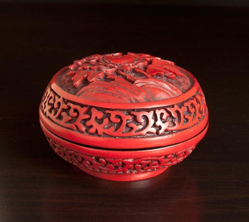 22: Chinese Cinnibar Style Box