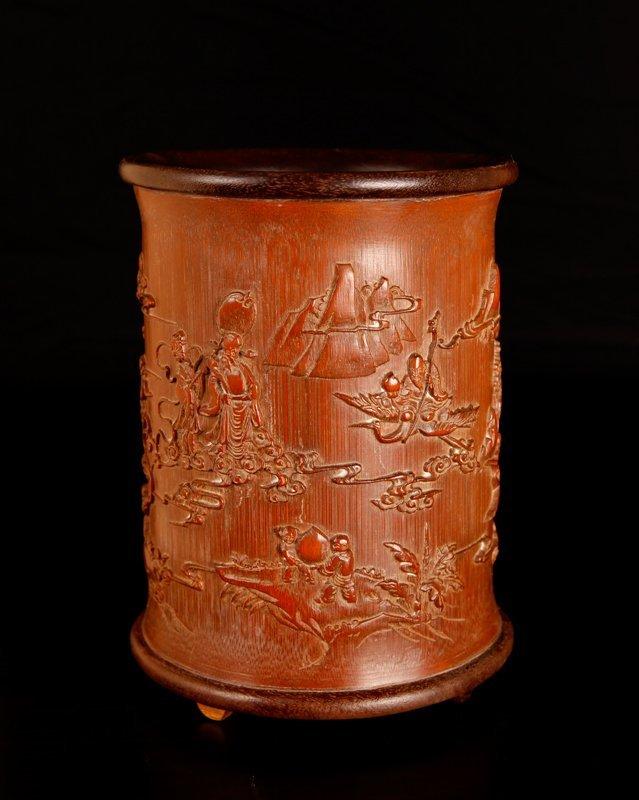 67: Chinese Bamboo Brush Pot