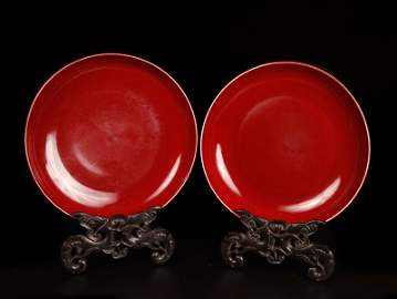 53: Pair of Chinese Monochrome Porcelain Basins