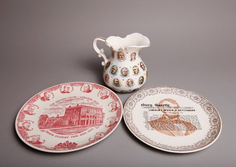 9: 3 Piece Presidental Porcelain