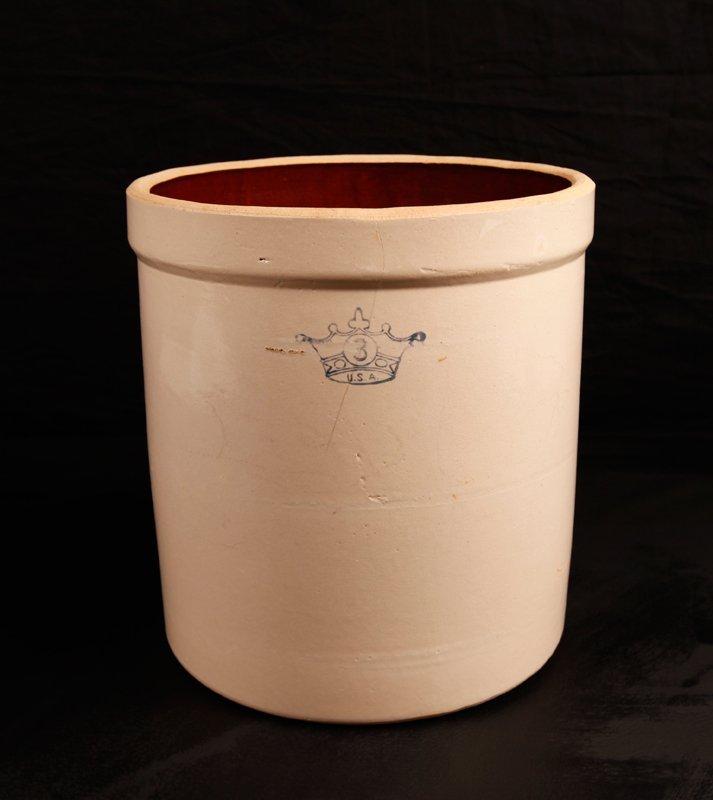 16: Early American Robinson Ransbottom 3 Gallon Crock