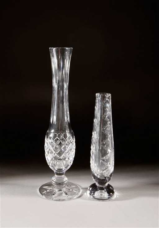 27 2 Waterford Crystal Bud Vases