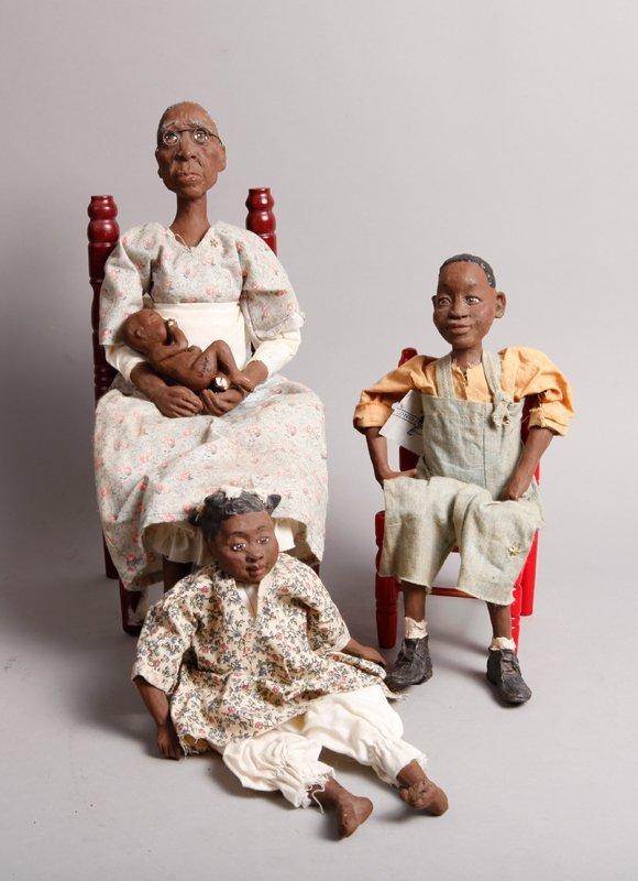 74: 4 Daddy Long Legs ® Dolls by Pat Weeks
