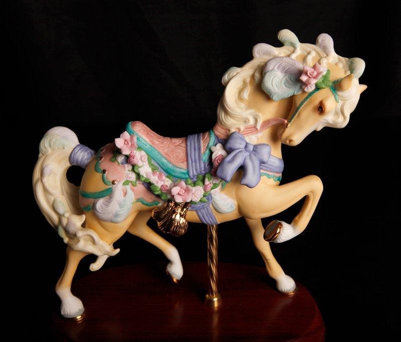 88: 2 Lenox Porcelain Carousel Horse Figurines - 2