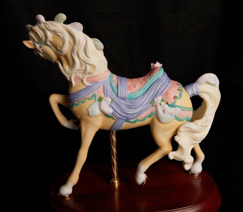 88: 2 Lenox Porcelain Carousel Horse Figurines - 3