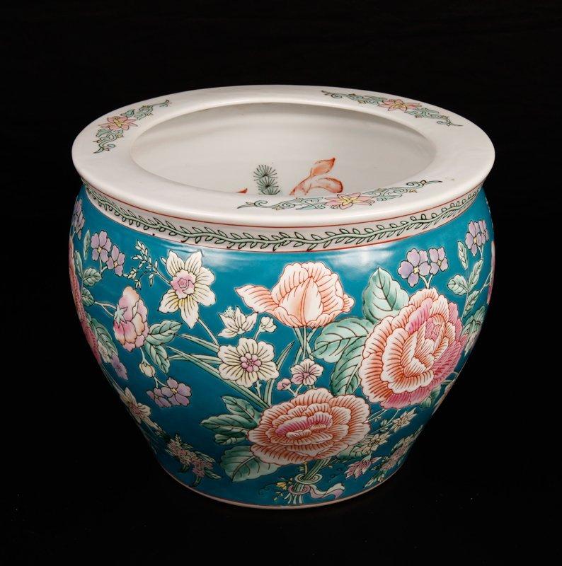 1: Chinese Porcelain Fish Bowl Planter