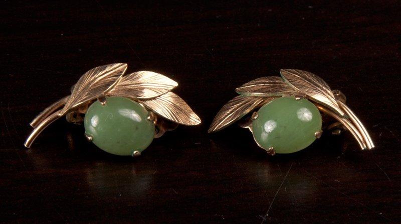 6: Pair of Chinese Jade Earrings