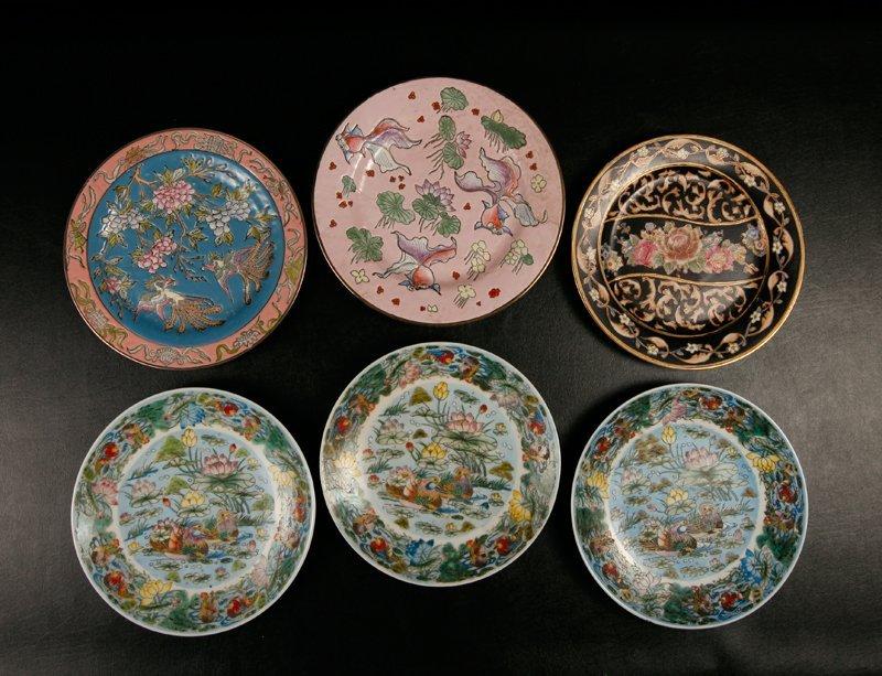 8: 6 Asian Porcelain Plates
