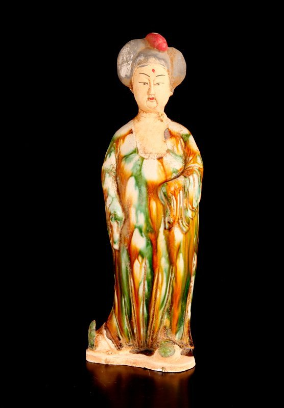 2: Chinese Tang Style Porcelain Figure