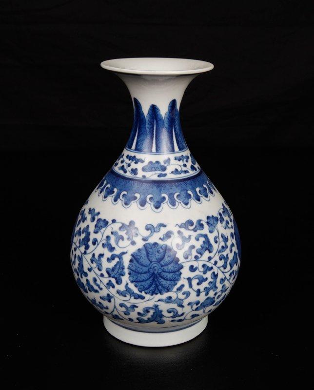 6: Chinese Blue & White Porcelain Vase