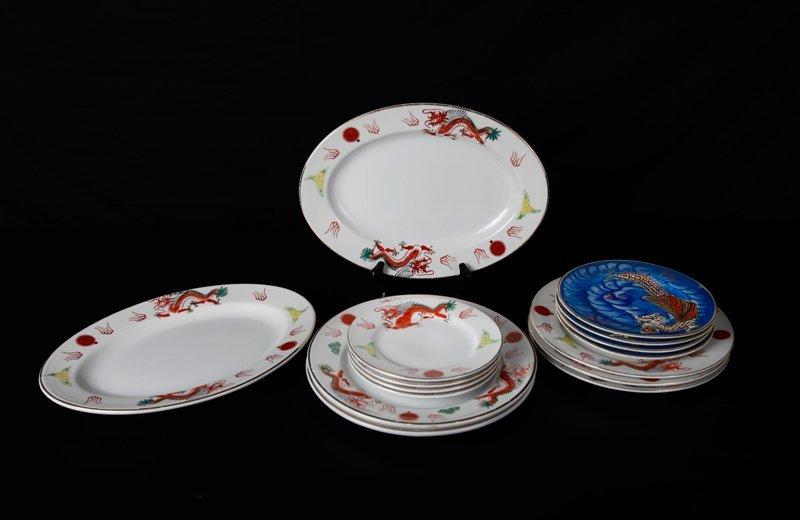 13: 15 Piece Japanese Porcelain