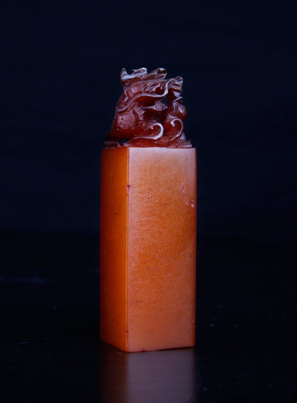 19: Chinese Carved Tianhuang Stone Seal