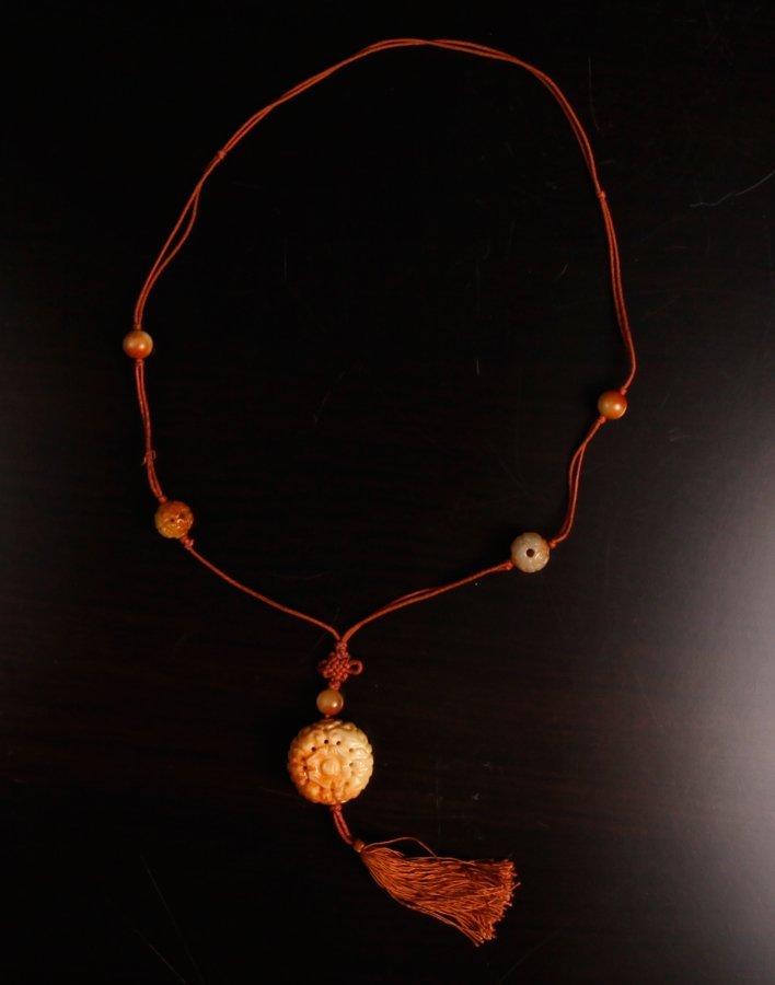 5: Chinese Jade or Hardstone Pendant Necklace