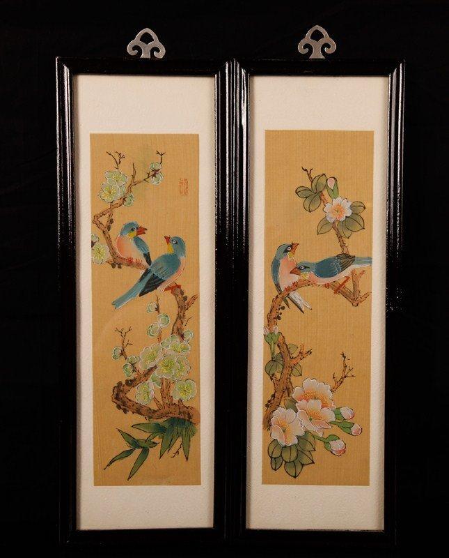 9: Pair of Chinese Watercolors