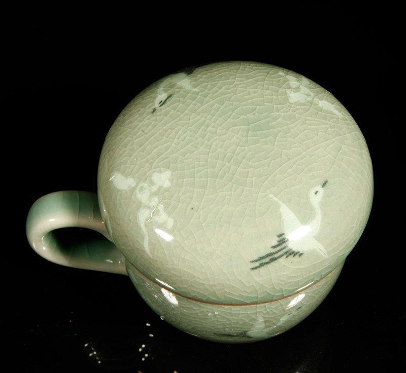 10: Korean Inlaid Celadon Tea Cup - 3