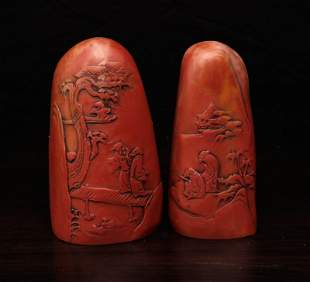 2 Chinese Molded Seals