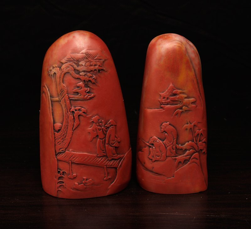 17: 2 Chinese Molded Seals