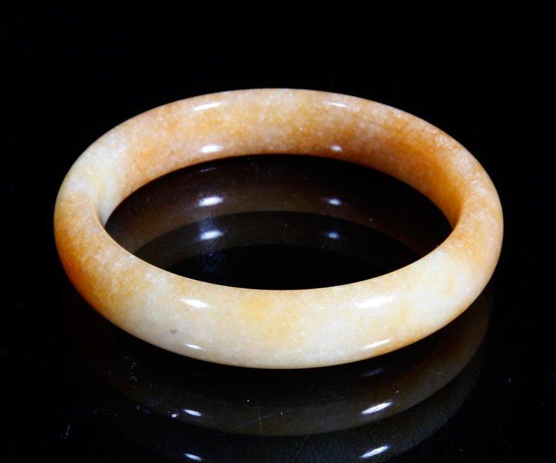 20: Chinese Carved Hardstone Bangle