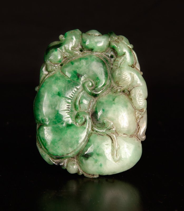 54: Chinese Carved Jadeite Plaque