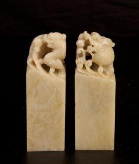 3: Pair of Chinese Shoushan Seals