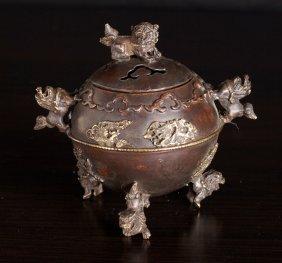 19: Chinese Bronze Censer