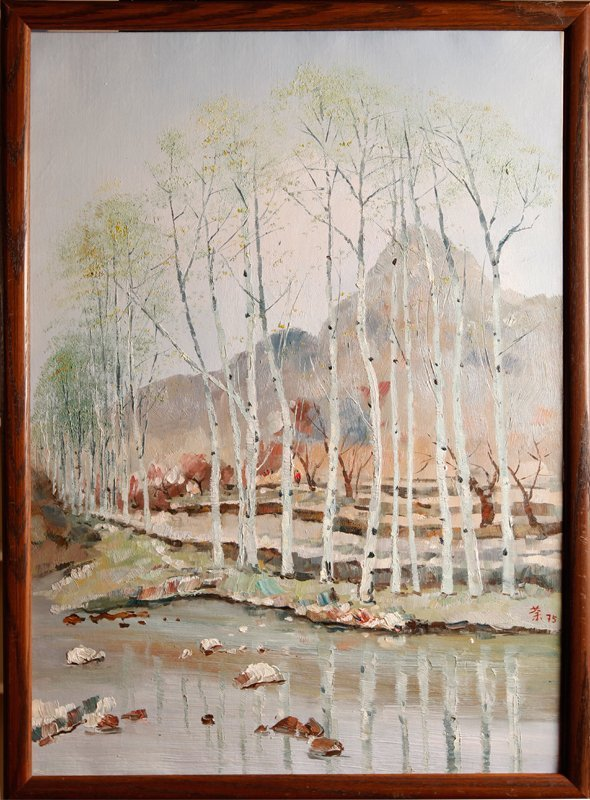 60: Wu Guanzhong Oil Painting on Canvas