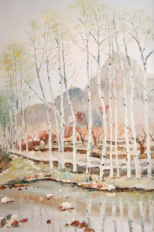 60: Wu Guanzhong Oil Painting on Canvas - 3