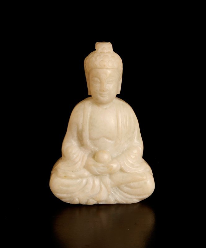 Chinese Carved Hardstone Buddha