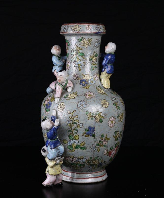Chinese Porcelain Boys Vase