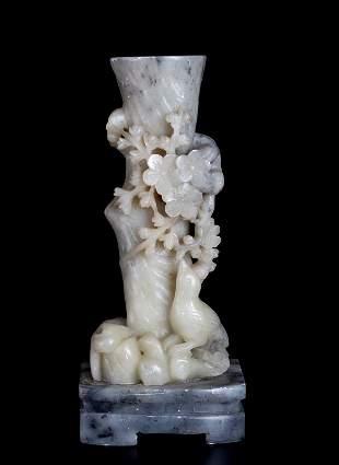 Chinese Carved Soapstone Vase