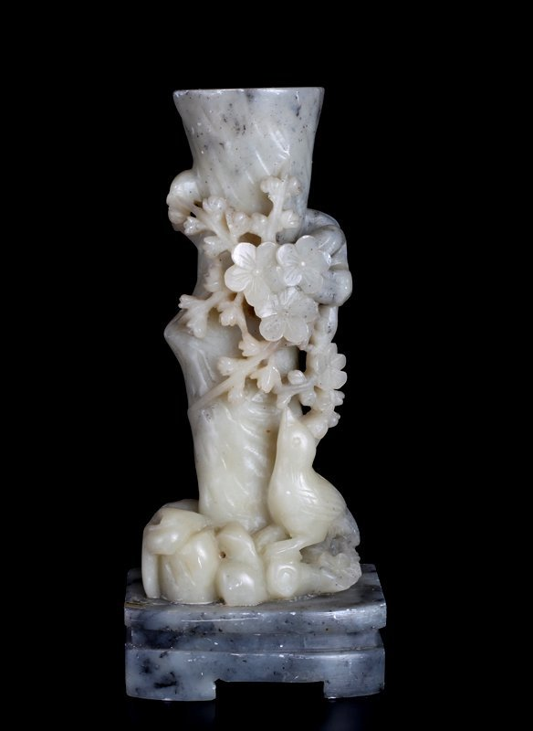 Chinese Carved Soapstone Vase