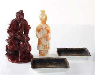 Japanese Boxwood, Hardstone & Porcelain
