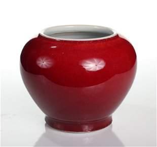 Chinese Monochrome Porcelain Jar