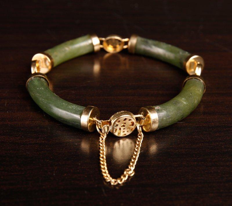 Chinese Spinach Jade Bracelet