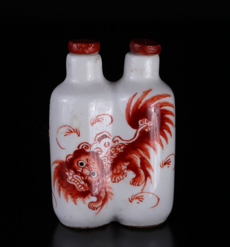 Chinese Double Porcelain Snuff Bottle