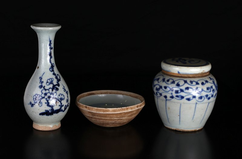 3 Chinese Ming Porcelains