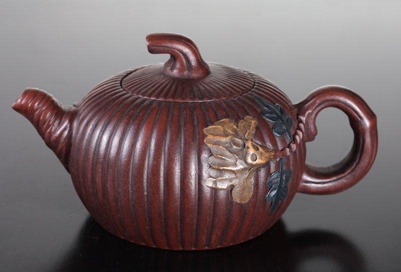 Chinese Zi Sha Pottery Tea Pot