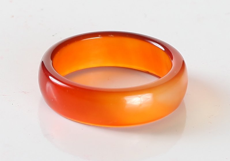 Chinese Carved Agate Ring