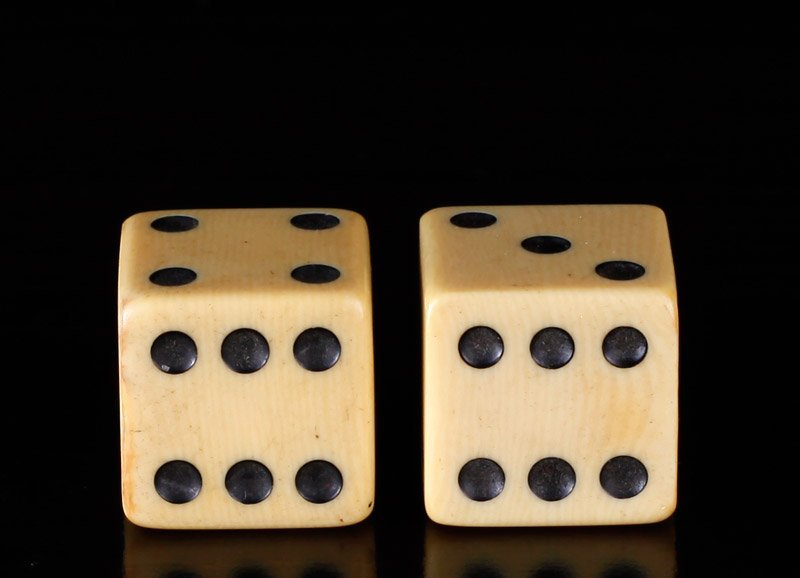 Pair of Chinese Ivory Dice