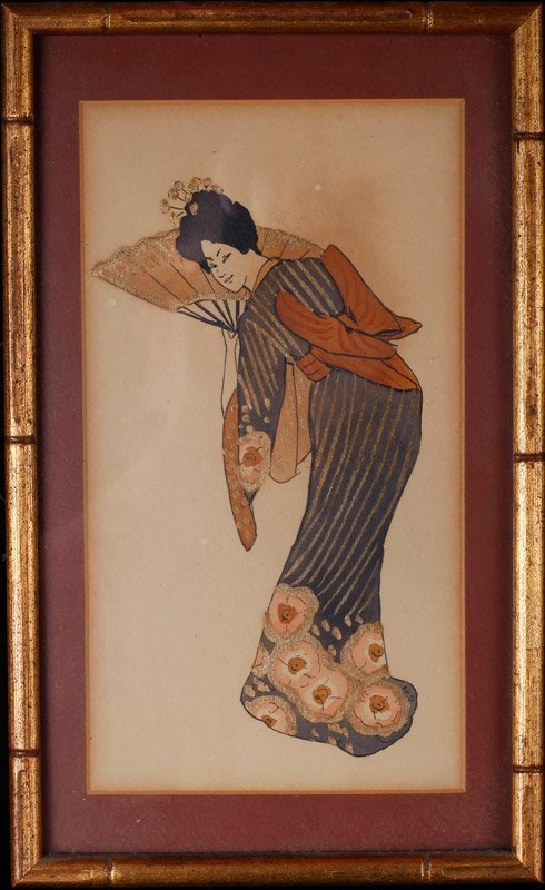 Japanese Framed Woodblock Print