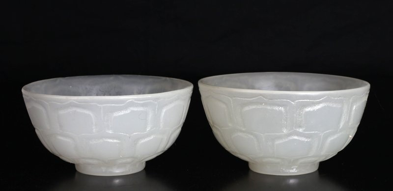 Pair of Chinese Glass Bowls