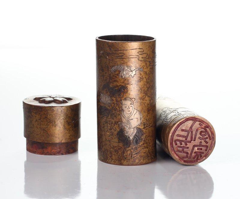 Chinese Bronze Seal Encased