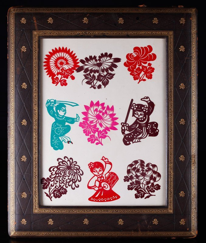 Grouping of Framed Asian Cut-Outs