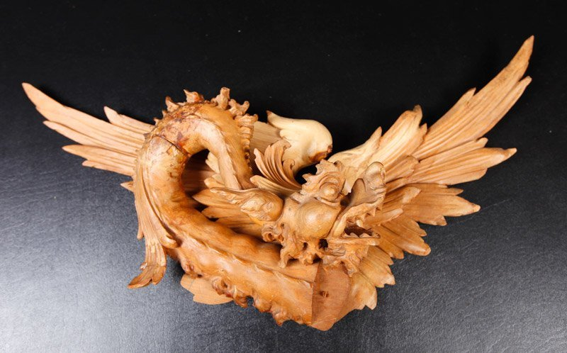Chinese Carved Wood Plaque